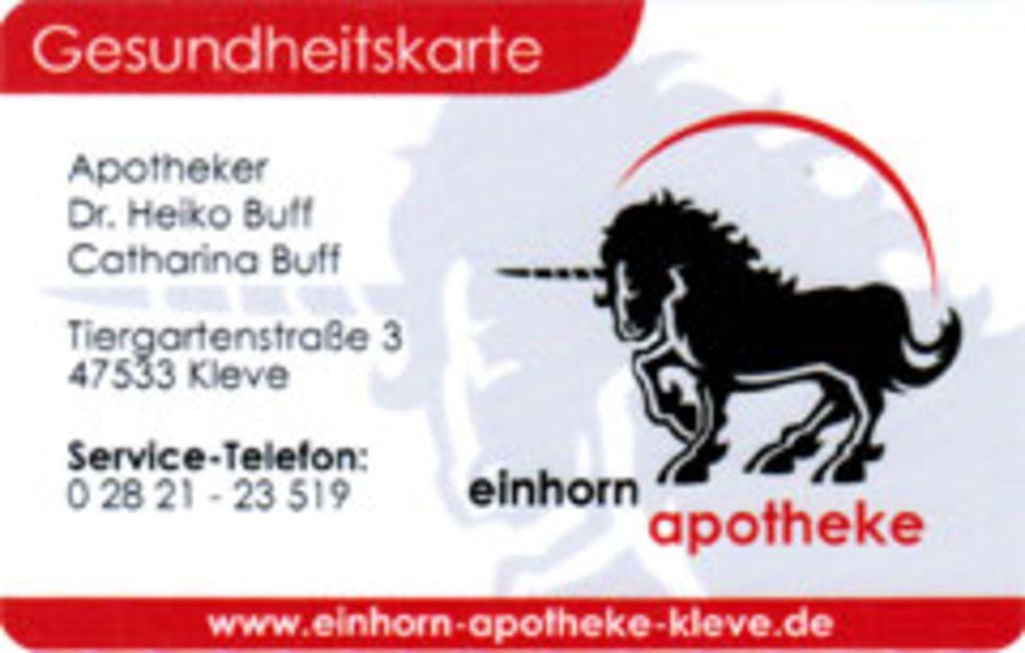 Bild der Gesundheitskarte Einhorn Apotheke